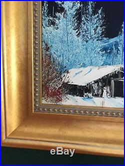 Original 1980 Bob Ross Painting Stunning oil on canvas Signed. Authentic