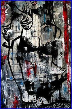 Original Abstract giclee Modern Urban Street HUGE Canvas WALL Art Fidostudio