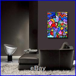 Original Abstract print Modern Home Decor HUGE Canvas Wall Art by Fidostudio