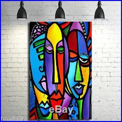 Original Abstract print Modern Whimsical Pop HUGE Canvas WALL Art Fidostudio