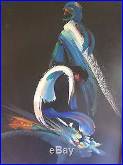 Original Acrylic On Canvas Painting Pain And Waiting By Wajih Nahle