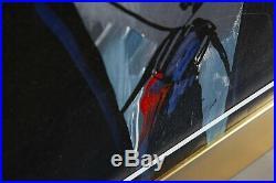 Original Acrylic on Silkscreen on Canvas Painting Ronald Reagan Contemporary A