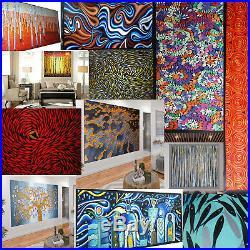 Original Art Painting Canvas Bush Fire Landscape Australia Tree Fire abstract