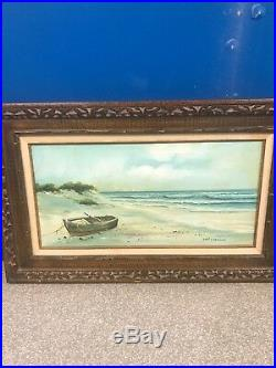 Original Authentic 1800s Winslow Homer Waterscape Painting Oil On Canvas Frame