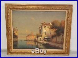 Original BOUVARD Oil on Canvas Venice Italy