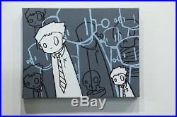 Original Chris RWK painting on Canvas not kaws, banksy, jerkface and Matt gondek