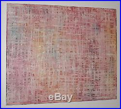 Original Contemporary Abstract Modern Art Red Pink Oil Painting On Canvas Signed