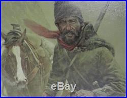 Original Fine Art Painting Oil on Canvas Snowbound Known Artist Vic Donahue