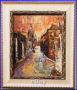 Original French Impressionist-Montmartre, Paris-Signed Oil On Canvas Framed