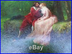 Original G. Innocenti Signed The Proposal Framed Oil On Canvas ANT Art Painting