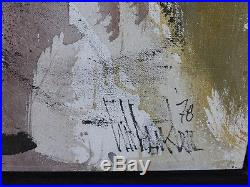 Original Gino Hollander Signed And Framed Oil On Canvas