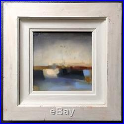 Original Irish Art Oil On Canvas Abstract Painting Blue Banks By Josephine Kelly