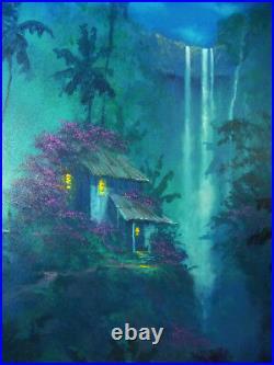 Original JAMES COLEMAN Oil Illustration (1998) HAWAII Midnight Dreams DISNEY