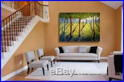 Original Landscaping art extra large on acrylic canvas 85 x 58 inches
