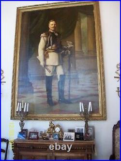 Original Life Size Oil Painting of Kaiser Wilhelm II, Last German Emperor