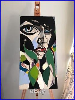 Original Lucinda Lyons Artwork, Oil & Mixed Media on Stretched Canvas