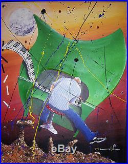 Original Marcus Glenn RHYTHM OF MARS Giclee on canvas hand embellished COA 22x18