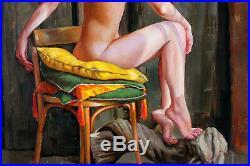 Original Oil Canvas Female Painting Art By Ukraine Artist Igorgrey