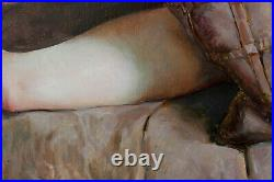 Original Oil Canvas Nude Female Painting Art By Artist Igorgrey
