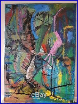 Original Oil Painting Abstract Large Canvas Modern Art Street Dance A1