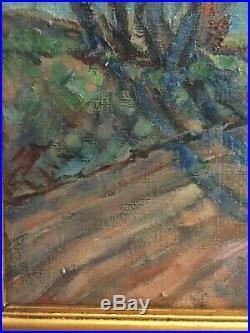 Original Oil Painting Impressionist Landscape Artist Signed RE Cooley 21x29