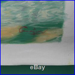 Original Oil Painting Male Nude On Canvas Signed Gay Interest 32 X 23.5 inches
