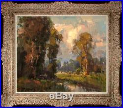 Original Oil Painting art Impressionism Landscape on canvas20x24