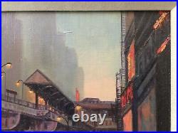 Original Oil Painting of Downtown Chicago byPaul Jenkins