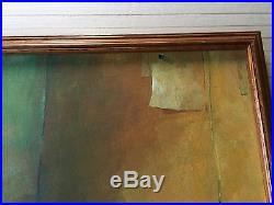 Original Oil Painting on Canvas 2 Cats on the Table, Signed by L, Framed