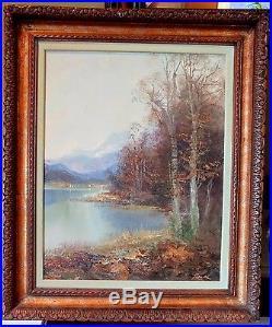 Original Oil Painting on Canvas Artist Kort (Berlin Germany 1939-) Landscape