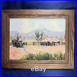 Original Oil Painting on Canvas Board Western Artist Bill Bender Vintage 1968