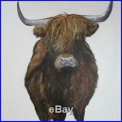 Original Oil on Canvas Isle of Mull Girl Graham Bruce Richards 2011 36x36
