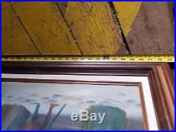 Original Oil on Canvas Lloyd Garrison art A christmas carol scrooge Signed