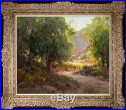 Original Oil painting art Impressionism Landscape tree on canvas 20x24