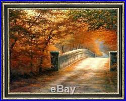 Original Oil painting art landscape Tree Path on canvas 30x40