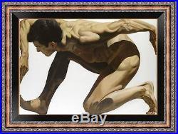 Original Oil painting art male nude Model on canvas 24x36