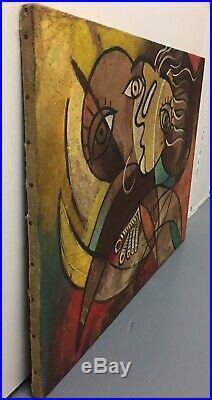 Original Pablo Picasso Oil On Cotton Canvas Signed