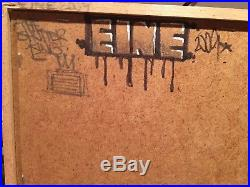 Original Painting Ben Eine All you need is Love On wood not Canvas Signed Banksy