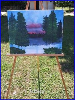 Original Painting On Canvas My Take On A Bob Ross
