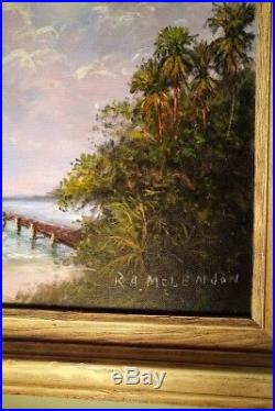Original R. A. McLendon Florida Highwaymen Painting on Canvas 11x14, Signed