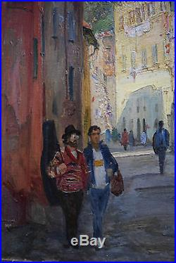Original Russian oil on canvas Painting Sergey Gusev 1993 Perugia