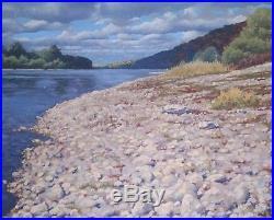 Original Russian oil on canvas USSR Socialist realism Painting Landscape 2000's