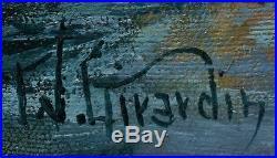 Original Signed Frank Girardin Oil on Canvas Bridalveil Fall