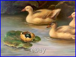 Original Signed Vintage Oil Painting On Canvas Signed By L. Redman