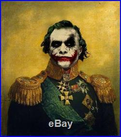 Original Superheroes General The Joker Art 100% Hand Made Oil Painting On Canvas