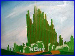 Original WIZARD OF OZ Painting on canvas banksy invader brainwash fairey