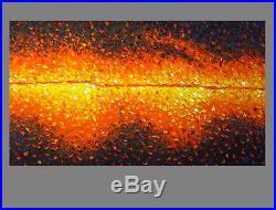 Original art fire painting canvas by Jane Crawford 2000mm Australia not print