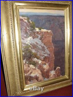 Original oil on Canvas Board by Jim Wilcox Grand Canyon Wall Western Artist