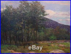 Original oil on canvas, Mt. Pocono, PA, 1904, by Nicola D'Ascenzo