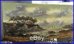 Original oil on canvas old french painting signed w COA